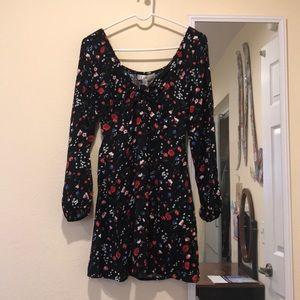 keyhole row a floral dress